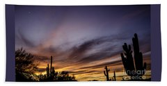 Cave Creek Arizona Sunset Hand Towel by Nick Boren