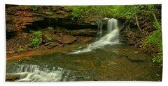 Cave Falls Arial View Hand Towel