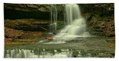 Cave Falls In The Laurel Highlands Hand Towel
