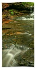 Cave Falls Portrait - Forbes State Forest Hand Towel