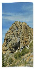 Bath Towel featuring the photograph Cave Rock At Tahoe by Benanne Stiens