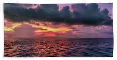 Bath Towel featuring the photograph Cebu Straits Sunset by Adrian Evans