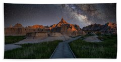 Hand Towel featuring the photograph Cedar Pass Milky Way by Darren White