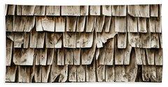 Cedar Shingles Pattern Bath Towel by Edward Fielding