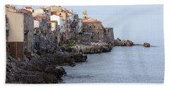 Cefalu, Sicily Italy Bath Towel