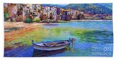 Ocean City Paintings Bath Towels