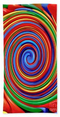 Celebrate Life And Have A Swirl Hand Towel by Carol F Austin