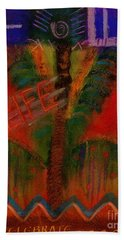 Bath Towel featuring the painting Celebrate Life by Angela L Walker