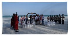 Celebrate Marriage On The Beach Hand Towel