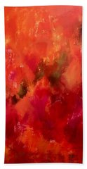 Celebrations Wedding Orange Abstract  Hand Towel