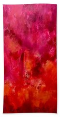 Celebrations Wedding Pink Abstract  Hand Towel