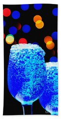 Celebrations With Blue Lagon Bath Towel by Manjot Singh Sachdeva