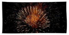 Voice Less Than Fireworks   Bath Towel by Manjot Singh Sachdeva