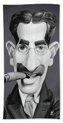 Celebrity Sunday - Groucho Marx Hand Towel