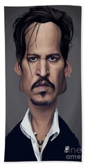 Celebrity Sunday - Johnny Depp Hand Towel