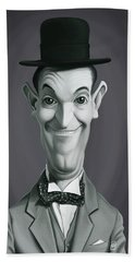 Celebrity Sunday - Stan Laurel Bath Towel by Rob Snow