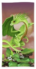 Hand Towel featuring the digital art Celery Dragon by Stanley Morrison