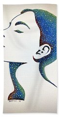 Celeste Hand Towel by Edwin Alverio