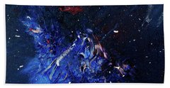 Hand Towel featuring the painting Celestial Harmony by Michael Lucarelli