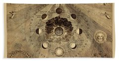 Celestial Map 1710b Hand Towel by Andrew Fare