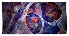 Celestial North - Fractal Art Hand Towel