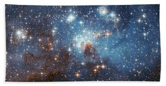 Bath Towel featuring the photograph Celestial Season's Greetings From Hubble by Nasa