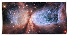 Bath Towel featuring the photograph Celestial Snow Angel - Enhanced - Sharpless 2-106 by Adam Romanowicz