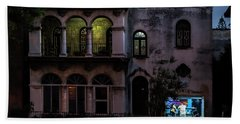 Bath Towel featuring the photograph Cell Phone Shop Havana Cuba by Charles Harden