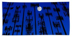 Cellphone Tower Forrest Bath Towel