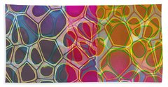 Cells 10 Abstract Painting Bath Towel