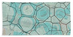 Bath Towel featuring the digital art Cellules - 04c1 by Variance Collections