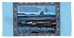 Celtic Explorer - Bluenose II In Halifax Harbour Bath Towel
