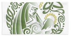 Celtic Green Madonna Hand Towel