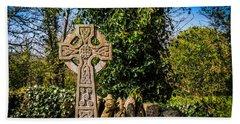Celtic Knots Decorate A Celtic Cross Bath Towel