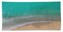 Bath Towel featuring the photograph Cemetery Beach Aerial Panoramic by Adam Romanowicz