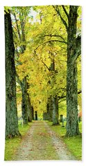 Bath Towel featuring the photograph Cemetery Lane by Greg Fortier