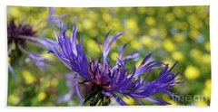 Centaurea Montana Flower Bath Towel