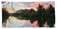Bath Towel featuring the photograph Centennial Lake At Sunrise by Mark Dodd