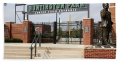 Center Field Entrance At Huntington Park  Hand Towel