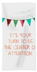 Center Of Attention- Card Hand Towel