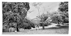 Hand Towel featuring the photograph Central Park In Black And White by Madeline Ellis