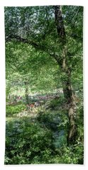 Bath Towel featuring the photograph Central Park Montage by Dave Beckerman