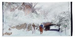 Central Park Snow Bath Towel
