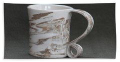 Ceramic Marbled Clay Cup Bath Towel by Suzanne Gaff