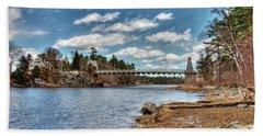 Chain Bridge On The Merrimack Hand Towel