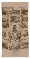 Chain Of Events In American History Bath Towel