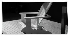 Chair In Black And White Hand Towel