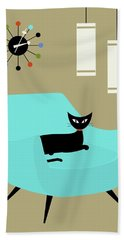 Chair With Ball Clock Bath Towel