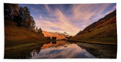 Chalet With An Autumn View Hand Towel