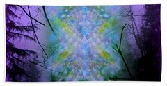Hand Towel featuring the digital art Chalice-tree Spirit In The Forest V1a by Christopher Pringer